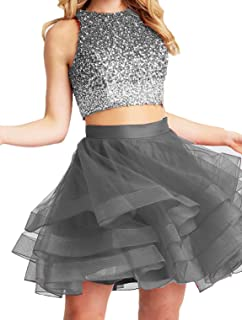 Women's Bonnie Beaded 2 pc Short Open Back Prom Ball Gown