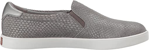 Grey Snake Embossed Leather