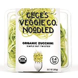 Zucchini Noodles In A Grocery Store