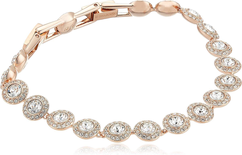 Angel Wing Crystal Anklet Rose gold and Swaroski Rhinestone crystal