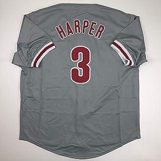 Unsigned Bryce Harper Philadelphia Grey Custom Stitched Baseball Jersey Size Men`s XL New No Brands/Logos