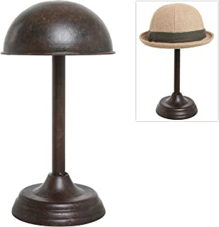 MyGift Antique Style Dome Shaped Brown Metal Tabletop Hat Rack/Wig Storage Holder Display Stand