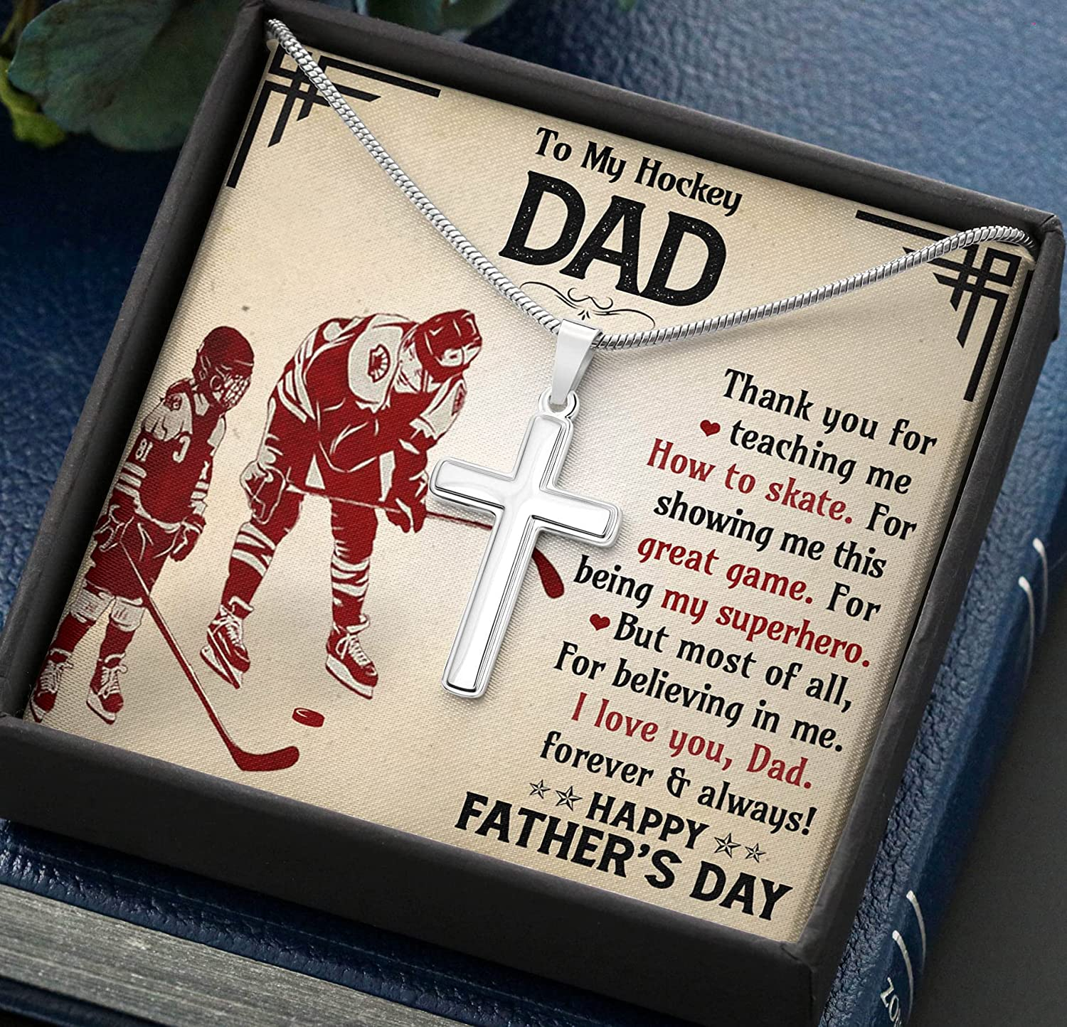 To My OFFicial mail order Hockey Dad Necklace Soldering Gift Me Showing Great This Ga For