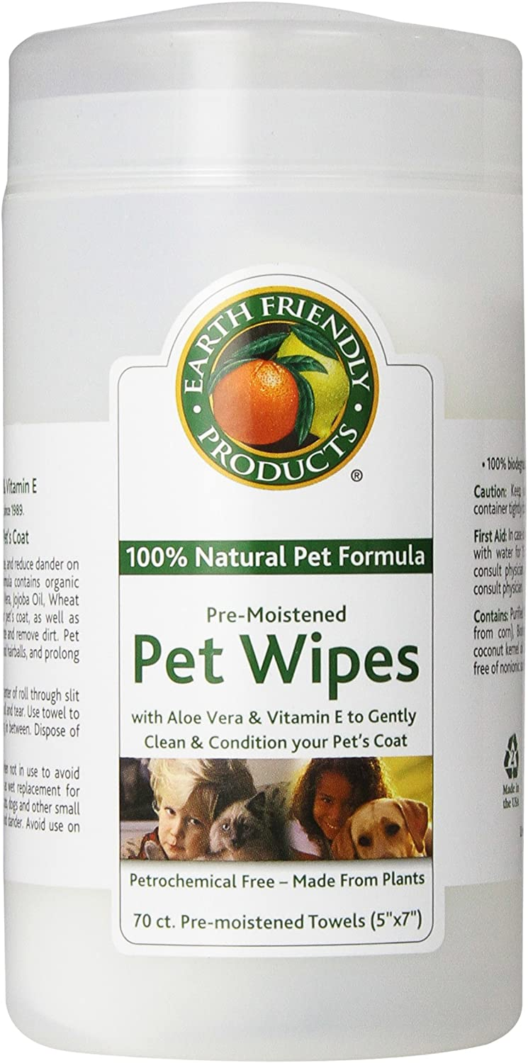 Natural Pet Premoistened Pet Wipes, 70Count Containers (Pack of 6)