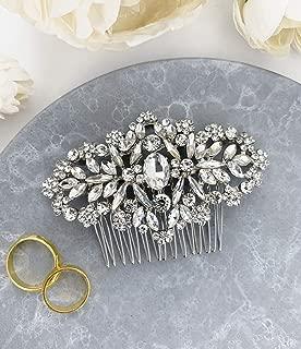 Wedding Hair Accessories Bridal Hair Comb Silver Crystal Rhinestone Classic Elegant Hair Pin Headpiece - For Brides and Bridesmaids - The White Toolbox