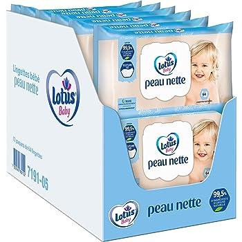 12 paquets, 720 lingettes sans alcool Vegan /Écologique Sans parfum Eau purifi/ée /à 99,9/% My Happy Planet Lingettes humides pour b/éb/é 100/% biod/égradables et sans plastique