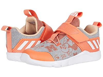 adidas Kids Rapidaflex Minnie El (Toddler) (Light Grey/White/Semi Coral) Girl