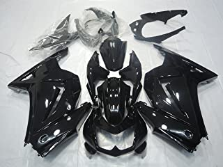 ZXMOTO K0208BLK ABS Motorcycle Bodywork Fairing Kit for Kawasaki Ninja 250 EX 250R ZX250 2008 2009 2010 2011 2012 Gloss Black - (Pieces/kit: 15)