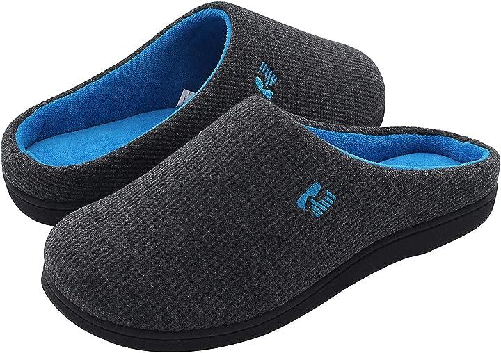 Pantofola da uomo in memory foam bicolore rockdove SL-M2C-NB-S