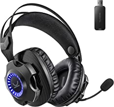 VANKYO Wireless Gaming Headset Captain 100- Gaming Headphones with Detachable Noise Cancellation Microphone, Long Lasting ...