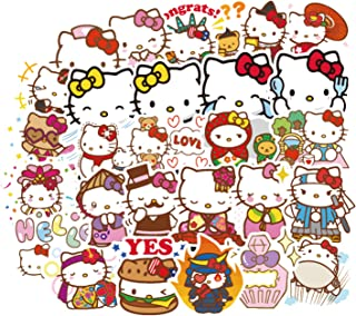100pcs Hello Kitty Hot Cartoon Cute Ins Lovely Beautiful Stickers for Water Bottles Laptop Motorcycle Bicycle Skateboard Luggage Decal Graffiti Patches