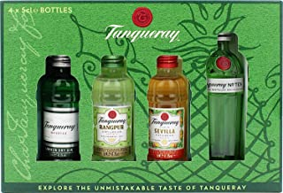 Tanqueray Exploration Pack mit Tanqueray London Dry Gin, Tanqueray No. Ten, Tanqueray Flor de Sevilla und Tanqueray Rangpur Gin 1 x 0.2 l