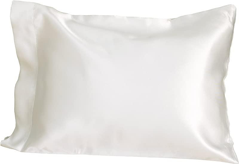 NoJo Toddler Pillow With Satin Pillowcase White