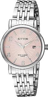Sutton by Armitron Women's SU/1019PKSV Date Function Silver-Tone Bracelet Watch