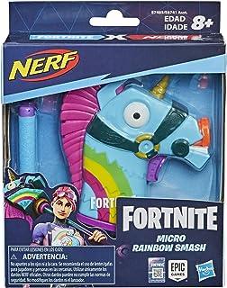 Nerf MicroShots Fortnite Rainbow Smash -- Mini-dartblaster en 2 officiële Nerf Elite-darts -- Voor kinderen, tieners en vo...