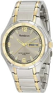Armitron Men's 204309GYTT Two-Tone Stainless Steel Round Dial Dress Watch