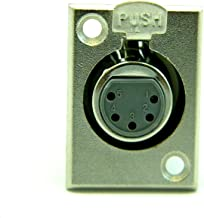 FEMALE MICROPHONE CONNECTOR PANEL MOUNT 5 PIN