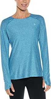 Coolibar UPF 50+ Women's Devi Long Sleeve Fitness T-Shirt - Sun Protective