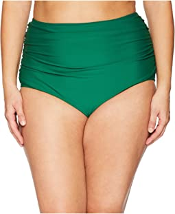 Plus Size Georgiana High-Waist Swim Bottoms