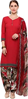 Rajnandini Red Crepe Salwar Suit For Women (Ready To Wear)(One Size)