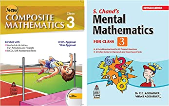New Composite Mathematics Class 3 + S Chand's Mental Mathematics for Class-3 (Set of 2 books)