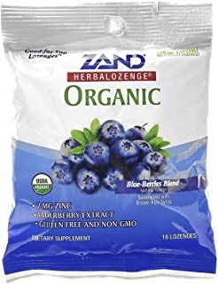 Herbal Lozenge Organic Blue Berries 18 lozenges, Zand