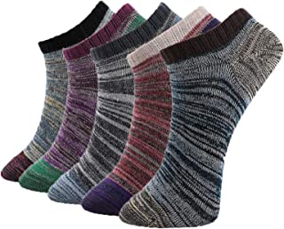 Fly-love 5 Pairs No Show Low Cut Ankle Socks Athletic Casual Liner Sock With box