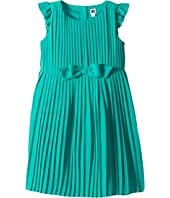 Ruffle Sleeve Bow Pleated Dress (Toddler/Little Kids/Big Kids)