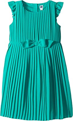 Ruffle Sleeve Bow Pleated Dress (Toddler/Little Kids/Big Kids)