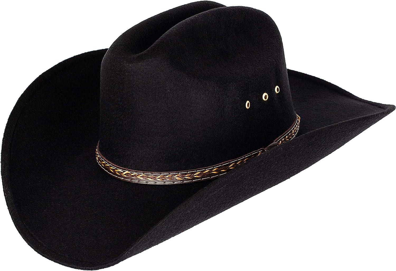 Queue Essentials Western Style Pinch Front Straw Canvas Cowboy Cowgirl Straw Hat