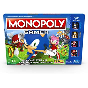 Hasbro Gaming Juego de Mesa Monopoly Gamer Sonic Board Game