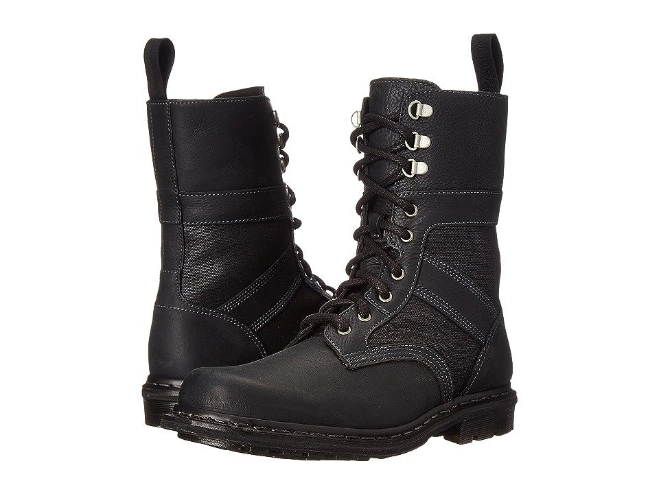 Dr. Martens Arun Fold Down Boot (Black Burnished Wyoming) Men