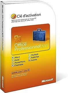 Microsoft Office 2010 Professional Product Key Card