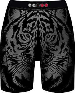 9'' Long Boxer Brief Boy's Men's 4-Ways Streched Cool Dry Fly Embossed Print(1 or 3 Pk