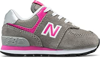(ニューバランス) New Balance 靴?シューズ キッズランニング 574 Core Grey with Pink グレー ピンク US 6.5 (24.5cm)