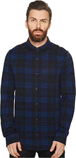 Original Penguin - Long Sleeve Knitted Plaid Shirt