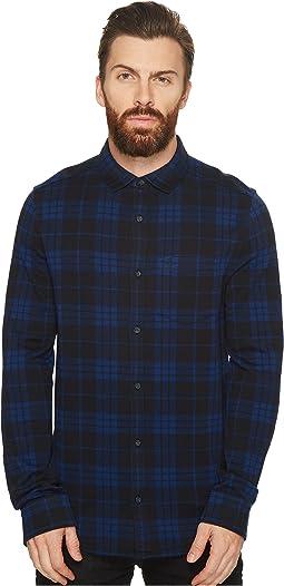 Original Penguin - Long Sleeve Knitted Plaid Shirt