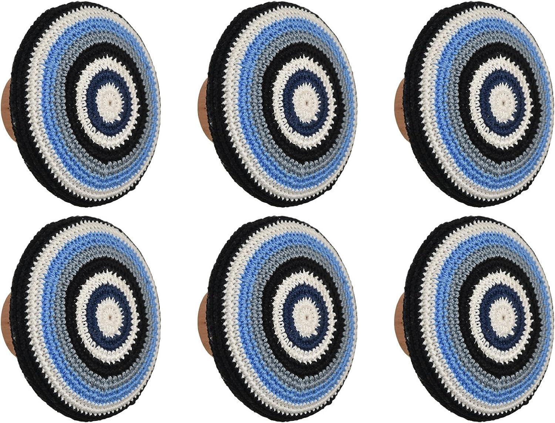 n ° 1 en línea L'agape POTITLIS 09 X6 Set de Pomos para Armario, Cajones, Cajones, Cajones, Crochet, Madera, 4.00x4.00x3 cm, 6 Unidades  ventas en línea de venta