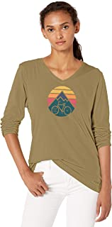 Life is Good Womens Long Sleeve Graphic T-Shirt Crusher Collection