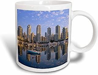 3dRose City Skyline, False Creek, Vancouver, British Columbia - Chuck Haney Ceramic Mug, 15-Oz