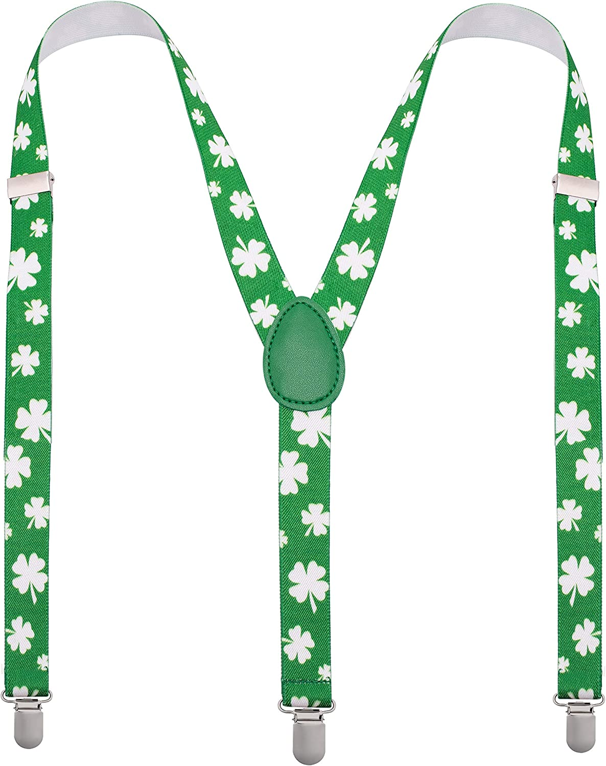 St Patricks Day Accessories Suspenders - Mens Suspenders with Clips - Many Colors to Choose From