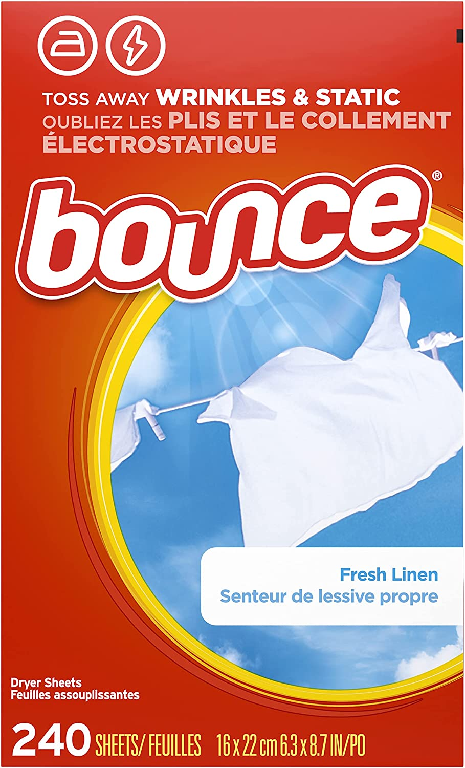 Bounce Fresh Linen Scented Fabric Softener Dryer Sheets: 240 Count! As low as .81 (REG: .99) at Amazon!