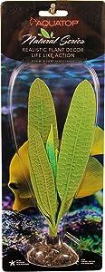 Aquatop Aquatic Supplies 003651 Silicone Aquarium Plant Madagascar Lace Green, 7.5 in