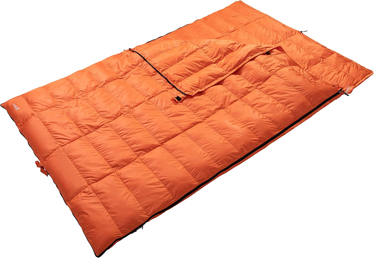 Camping or Hiking Ubon Double Sleeping Bag Queen Size XL Sleeping Bag Cold Weather 2 Person Sleeping Bag 3-4 Season for Backpacking