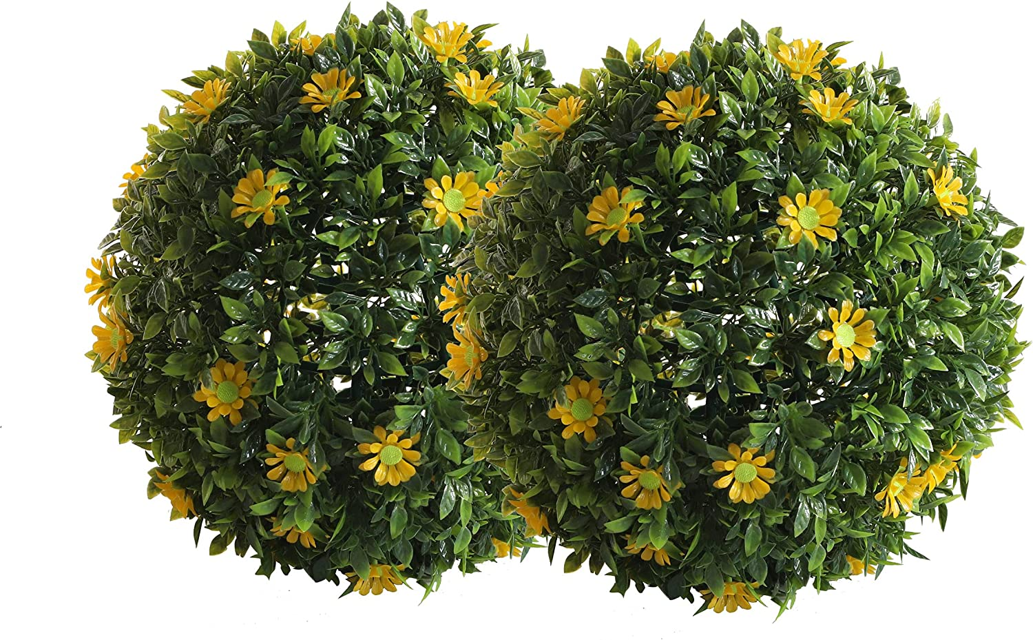 2Pack Fashion Boxwood Topiary Ball Cutey Max 57% OFF Sunflower Decorative Faux Sunfl