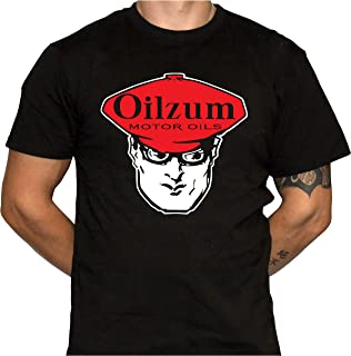 Oilzum Motor Oil T-Shirt - Athletic Fit T-Shirt - Gildan 64000 Black T-Shirt