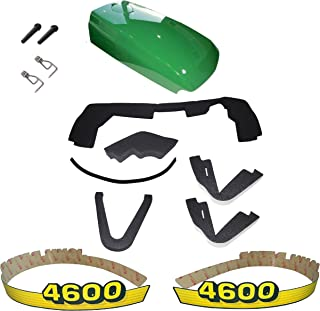 New Kumar Bros USA Upper Hood/Fuel Door Kit/Mounting Seal Kit/LH & RH Decals fits John Deere 4600