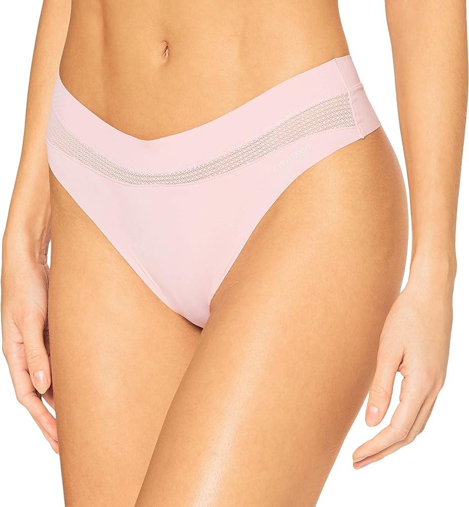 Calvin klein thong lingerie,mutandine,slip per donna,70% poliammide, 30% elastan 000QF6047ER