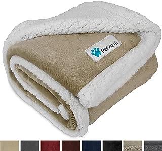 PetAmi Premium Puppy Blanket | Pet Small Dog Blanket for Cats, Kitten | Soft, Warm, Plush, Reversible Fleece Sherpa Throw - 30x40 Inches