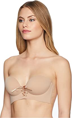 U Plunge Cleavage Enhancement Backless Strapless Bra